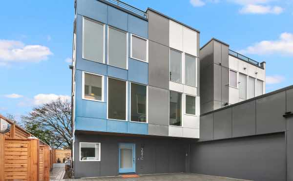 View of the Back Exterior of the Hawk's Nest Townhomes in Beacon Hill