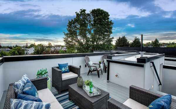 Rooftop Deck at 6111 17th Ave NW, in the Kai Townhomes by Isola Homes