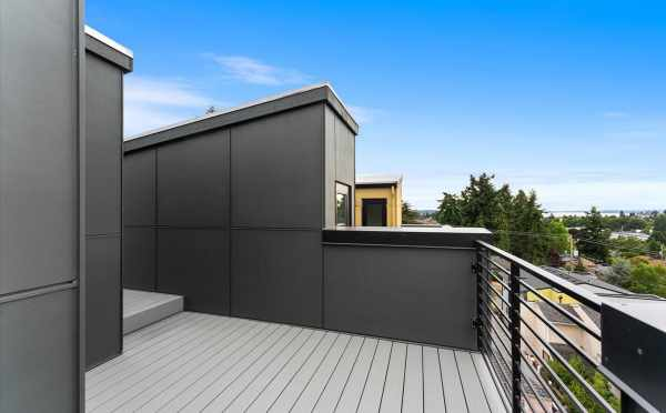 Roof Deck at 3015C 30th Ave W, One of the Lochlan Townhomes in Magnolia