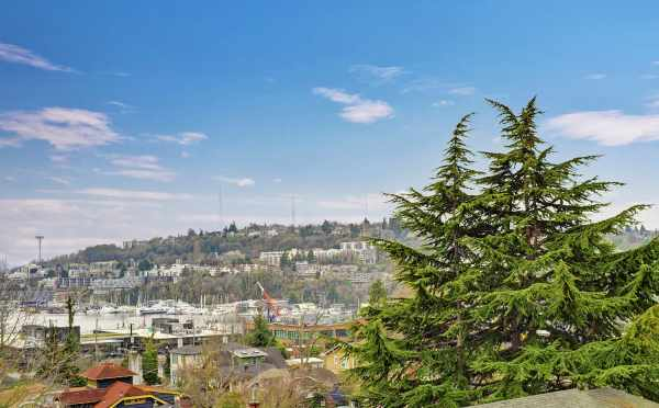 Views of Queen Anne and Downtown from the Roof Deck of 3525 Wallingford Ave N