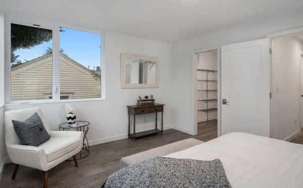 Master Bedroom and Closet of Unit 408A at Oncore Townhomes in Capitol Hill