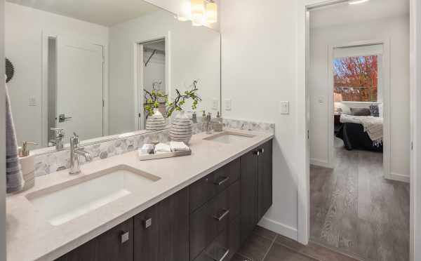 View from the Master Bathroom in One of the Units of Oncore Townhomes