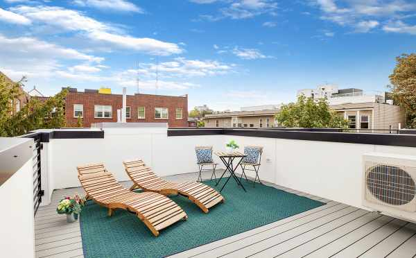 Rooftop Deck at One of The Wyn Townhomes in Capitol Hill