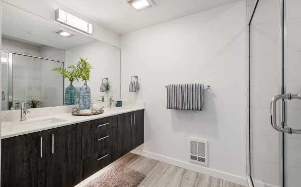 Owner's Suite Bathroom at 8569 Mary Ave NW in The Trondheim