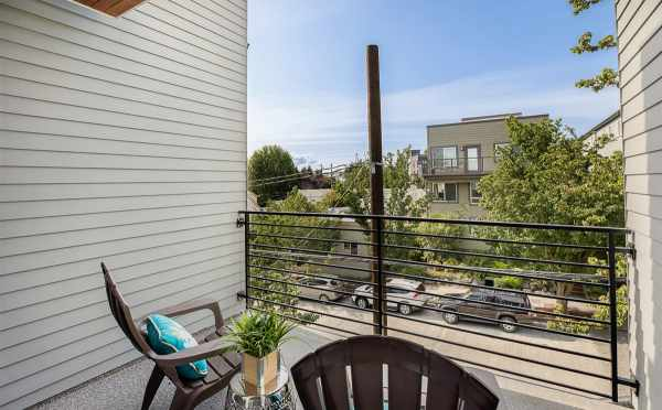 Deck off the Owner's Suite at 445 NE 73rd St