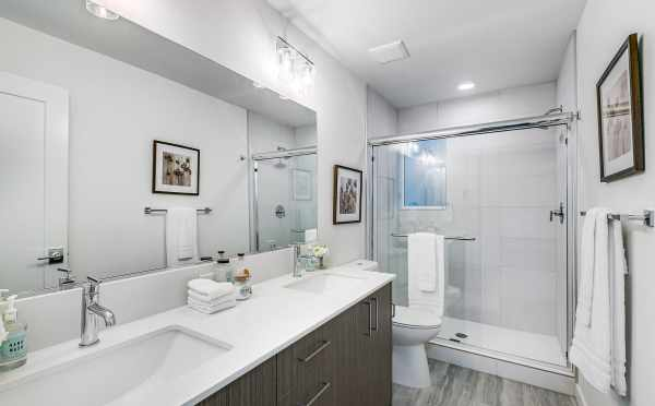 Owner's Suite Bathroom at 3803 23rd Ave W, in the Walden Townhomes