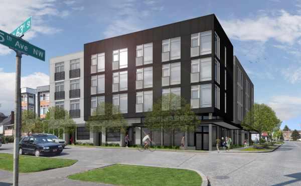 Rendering of the Britt in Ballard, An Apartment Community with SEDUs and Studio Units