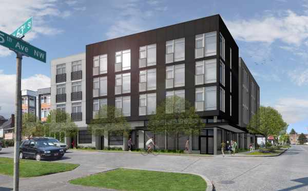 Rendering of the Grove in Ballard, An Apartment Community with SEDUs and Studio Units