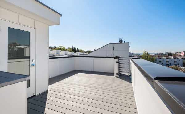 Roof Deck at 1113A 14th Ave, One of the Corazon North Townhomes