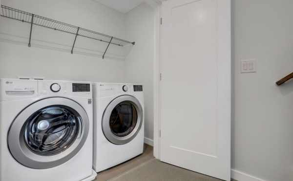 Laundry Room in One of the Lucca Townhomes