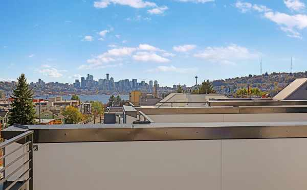 View of Downtown Seattle and Lake Union from the Roof Deck at 3549 Wallingford Ave N