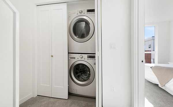 Stackable Washer and Dryer in 7528A 15th Ave NW, Townhome in Talta Ballard