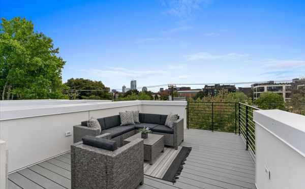 Roof Deck at 1730C 11th Ave, One of the Altair Townhomes by Isola Homes