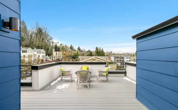 Roof Deck at 2430 Boyer Ave E, one of the Baymont Townhomes