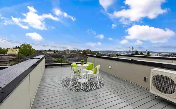 Roof Deck at 1812 E Spruce St, in the Cabochon Collection