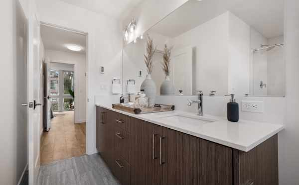 Owner's Suite Bathroom at 1105F 14th Ave