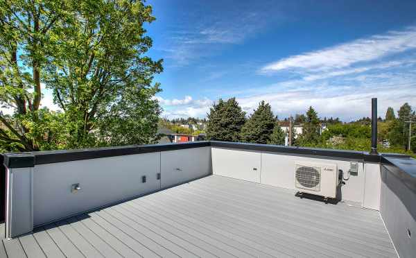 Rooftop Deck at One of the Kai Townhomes in Ballard