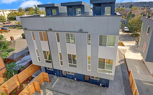 Aerial View of the Back of the Lifa East Townhomes