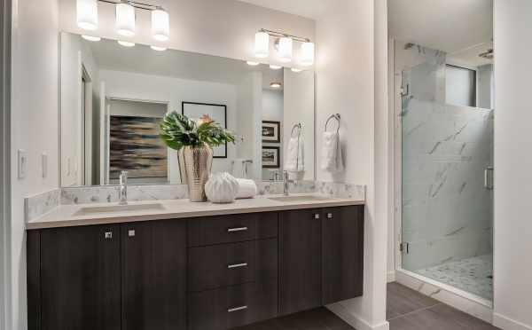 Master Bathroom of Unit 408A at Oncore Townhomes in Capitol Hill