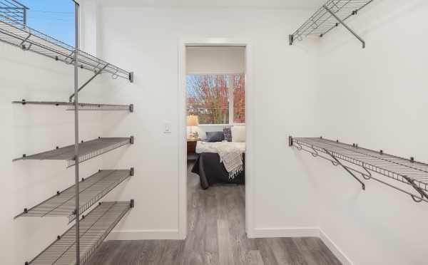 Master Closet in One of the Units of Oncore Townhomes