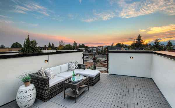 Roof Deck at 8509B 16th Ave NW, One of the Ryden Townhomes