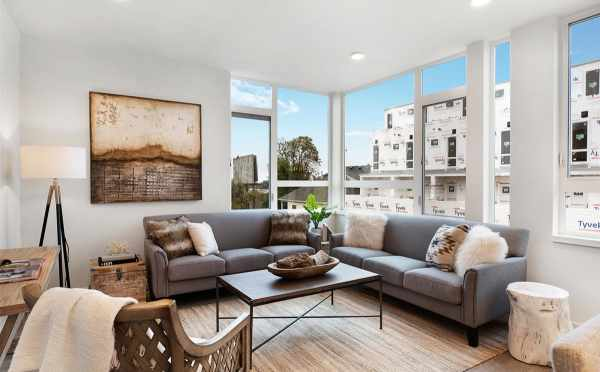 Living Room at 807 N 47th St of Sunstone at Fremont by Isola Homes