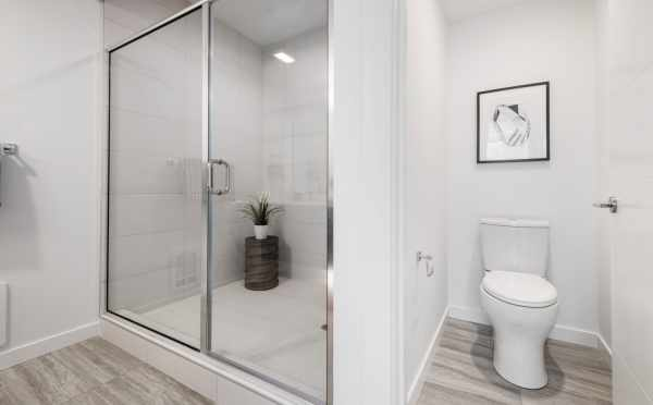 Shower in the Owner's Suite Bathroom at 8569 Mary Ave NW