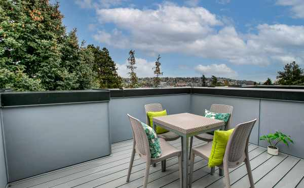 Roof Deck at 3803 23rd Ave W, one of the Walden Townhomes in Magnolia