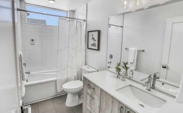 Second Bathroom at 1724B 11th Ave, one of the Wyn on 11th Townhomes