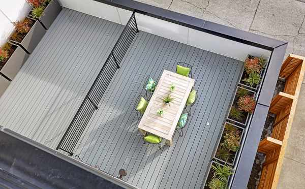 Overhead View of the Deck off the Living Room at 7219 5th Ave NE in Verde Towns 3