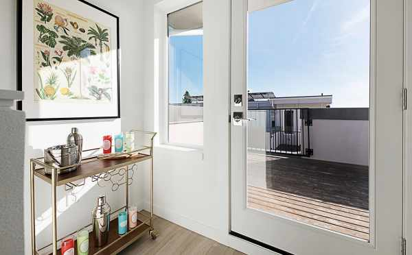 Door to the Rooftop Deck of 7528A 15th Ave NW, Townhome in Talta Ballard