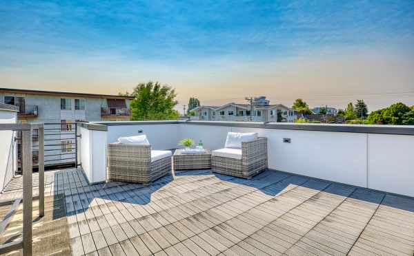 Roof Deck at 8505 16th Ave NW, One of the Alina Townhomes in Crown Hill