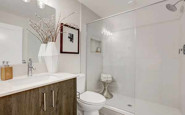 Owner's Suite Bathroom at 500C NE 71st St, One of the Avery Townhomes