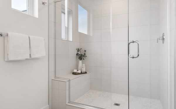 Shower in the Owner's Suite Bathroom at 1105F 14th Ave in Corazon Central