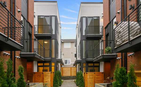 View of the Townhomes in both Core 6.1 and 6.2 in Capitol Hill