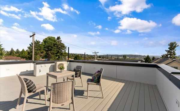 View of Queen Anne Hill from the Roof Deck at 6421 14th Ave NW