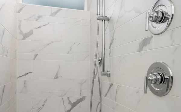 Shower in the Master Bath of Unit 408A at Oncore Townhomes in Capitol Hill