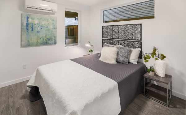 Second Bedroom in One of the Units of Oncore Townhomes