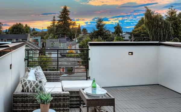 Mountain Views from the Roof Deck at 8509B 16th Ave NW
