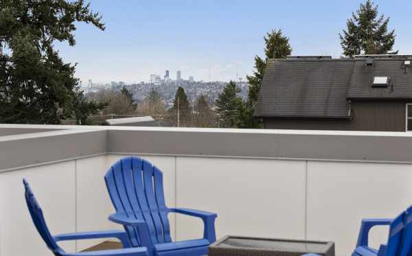 Views of Downtown from the Roof Deck at 1492 NW 75th St