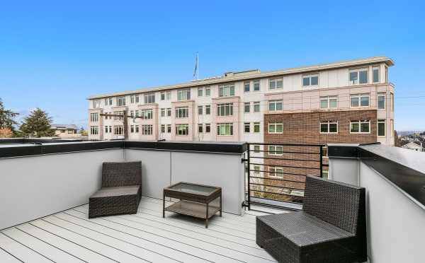 Rooftop Deck at 109A 22nd Ave E, One of the Thalia Townhomes in Capitol Hill