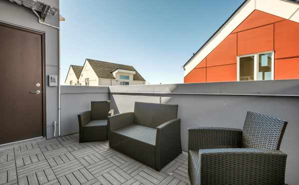 Deck Off the Third Floor at 8559 Mary Ave NW at The Trondheim
