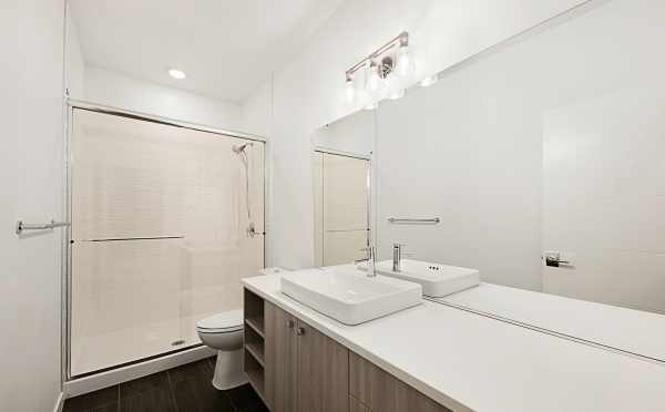 Third Floor Bathroom in One of the Twin II Townhomes