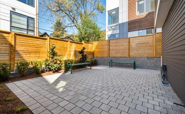 Private Patio at 1113A 14th Ave