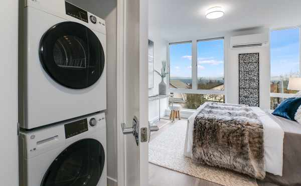 Washer and Dryer at 201B 23rd Ave E, One of the 6 Central Townhomes