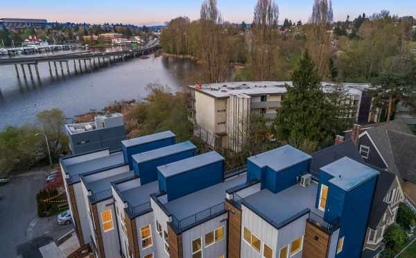 Aerial View of the Roof Decks at Baymont Townhomes