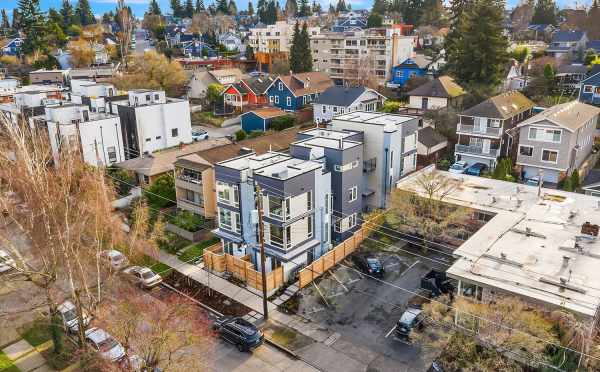 Aerial View of the Bloom Townhomes in Green Lake