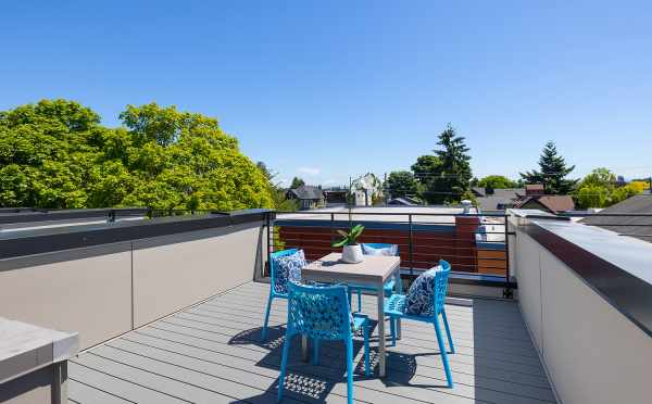 Roof Deck at 212B 18th Ave in the Cabochon Collection by Isola Homes