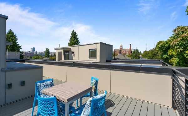 Rooftop Deck at 212E 18th Ave, One of the Amber Homes in the Cabochon Collection by Isola Homes