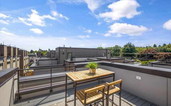 Roof Deck at 6317C 9th Ave NE, One of the Homes in Zenith Towns North by Isola Homes